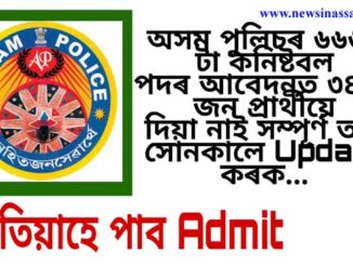 Assam Police Recruitment 2020-Application Online Correction for 6662 Constable