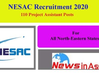 NESAC Recruitment 2020